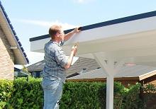 Anbau Design Dachblende am Flachdach Carport