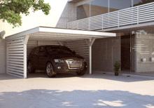 Einzel Flachdach Carport