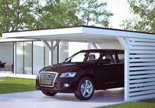 Flachdach Carport für ein Auto