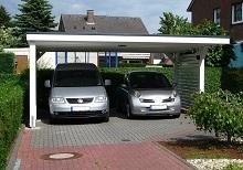 Fachdachcarport für 2 Autos