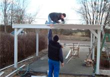 Aufbau Flachdach Carport von Easycarport 11
