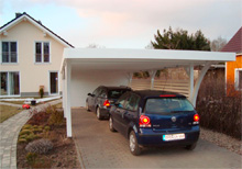 Aufbau Flachdach Carport von Easycarport 15
