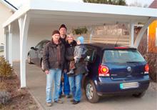 Aufbau Flachdach Carport von Easycarport 17