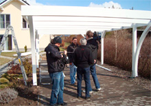 Aufbau Flachdach Carport von Easycarport 6