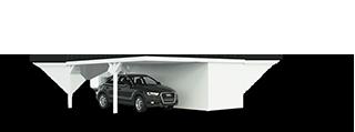 Doppelcarport 6.16 x 6.00m