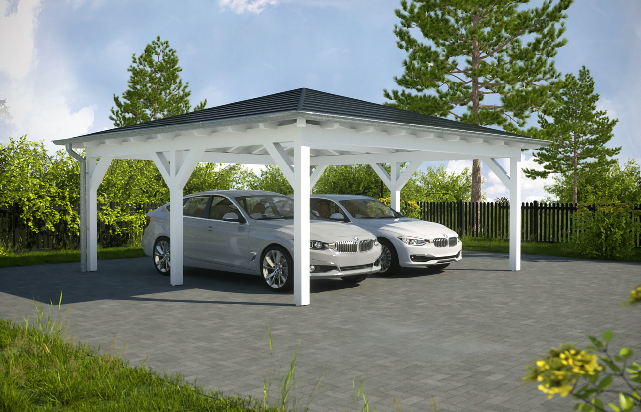 aktion carport mit walmdach x m preise. Black Bedroom Furniture Sets. Home Design Ideas