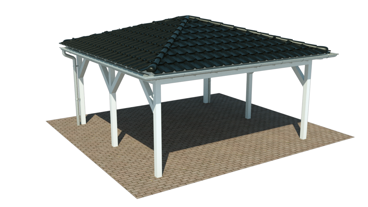 aktion carport mit walmdach x m preise. Black Bedroom Furniture Sets. Home Design Ideas
