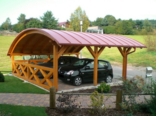 Bogendach Carport 1