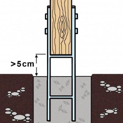 h pfostentr ger einbetonieren h anker pfostentr ger zum einbetonieren 121x60x295x600 h anker. Black Bedroom Furniture Sets. Home Design Ideas