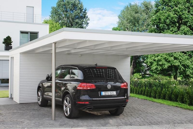 edelstahl carport. Black Bedroom Furniture Sets. Home Design Ideas