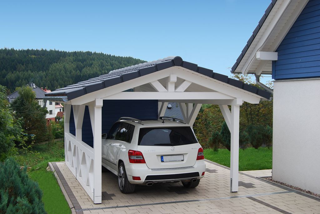 satteldach carport. Black Bedroom Furniture Sets. Home Design Ideas