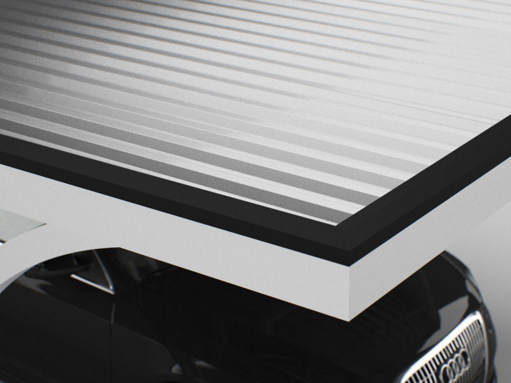 trapezblech carport. Black Bedroom Furniture Sets. Home Design Ideas