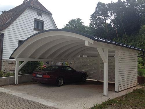 Design Carport Als Eyecatcher Bogendach Carport