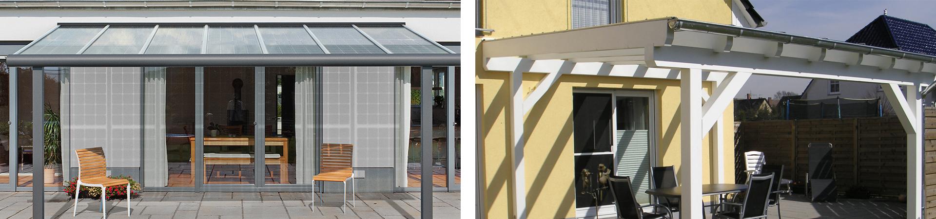 terrassendach aus holz oder aluminium vor und nachteile im ratgeber auf. Black Bedroom Furniture Sets. Home Design Ideas