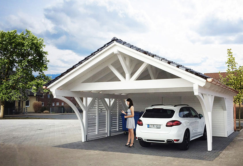 spitzdach carport selbst konfigurieren und kaufen satteldach carport bei. Black Bedroom Furniture Sets. Home Design Ideas