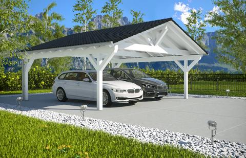 Spitzdach carport selbst konfigurieren und kaufen for Streifenfundament carport