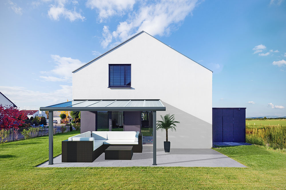 easy terrassendach ihr neues terrassendach aus aluminium mit 10mm verbundsicherheitsglas. Black Bedroom Furniture Sets. Home Design Ideas