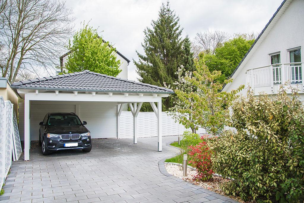 Walmdach carport selbst konfigurieren und kaufen bei - Was kostet ein dachstuhl ...